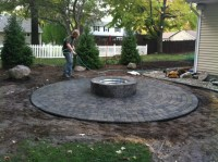 Paver Patio with Firepit - ClearBrook Landscaping and Lawncare