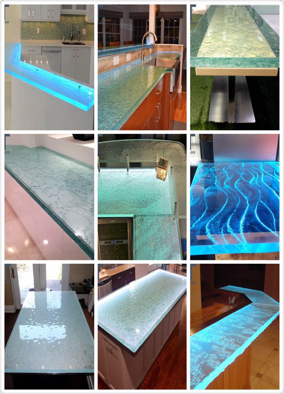 Glass Benchtops Slump Glass Cast Formed Glass Supplier Victoria Australia