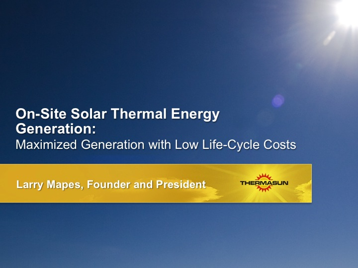 ThermaSun Investor Presentation Clearly Presentable
