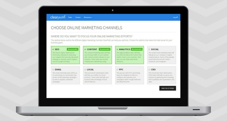 ClearPath Personalized Online Marketing Task List Tool