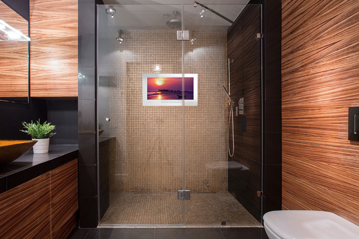 Bathroom Mirrors With Tv Built In Shower Series Clearview Innovations
