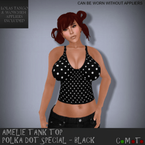 _PB_ Amelie Tank Top Polka Dot Special Black - Going Bust