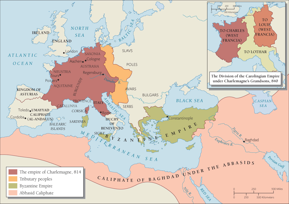 The Great War - Europe after World War I - the division of land - blank road map