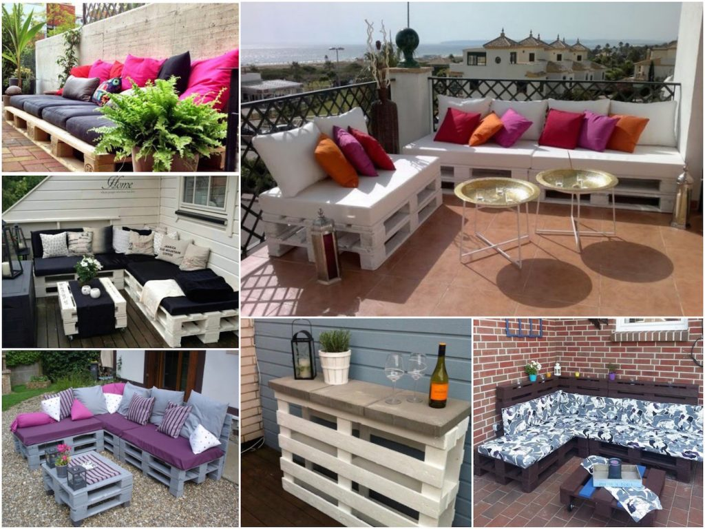 Palette En Bois Salon De Jardin Faire Une Terrasse En Palette Blog Déco Clem Around The