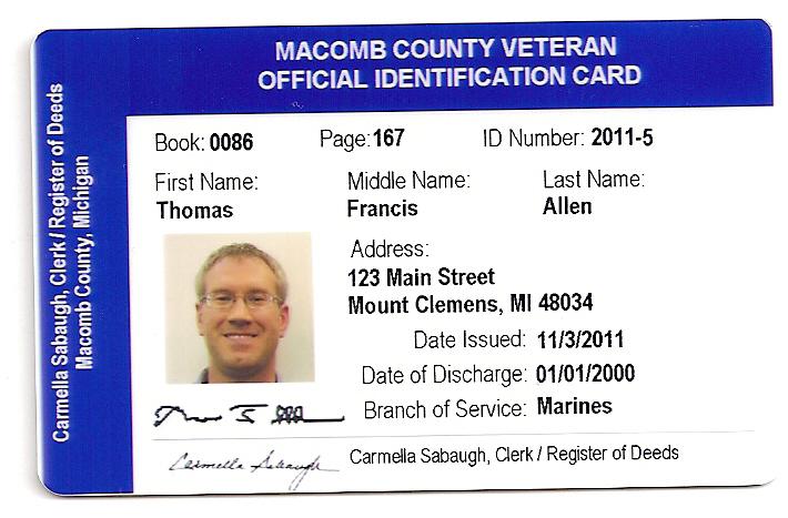 Clerk - County Clerk To Offer Veterans Photo ID Cards Thursday