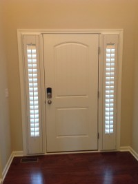 Entry Door Sidelight Window Shutters | Cleveland Shutters