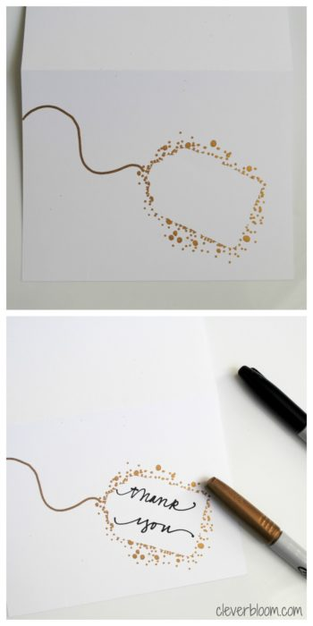 Make Your Own Thank You Cards - Clever Bloom - make your own thank you cards