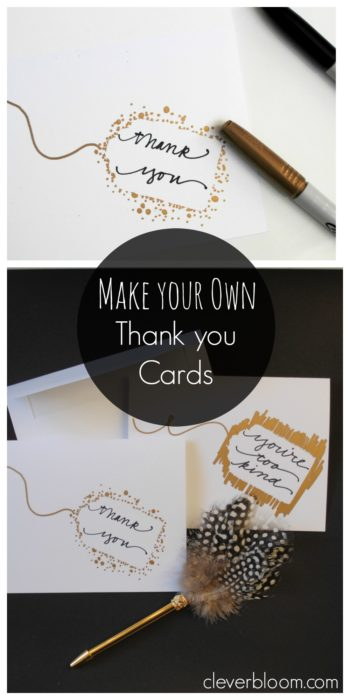 Make Your Own Thank You Cards - Clever Bloom