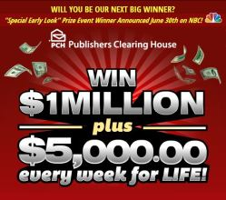 Win $1 Million + 5K Every Week For Life!