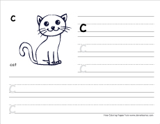 Letter C Writing And Coloring Sheets