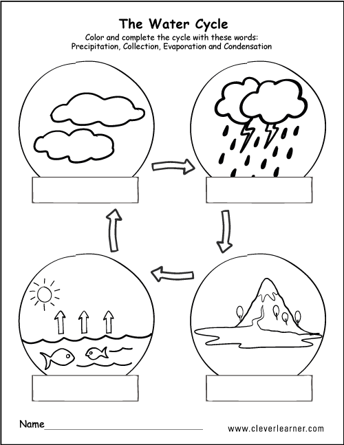 describe water cycle with the help of diagram