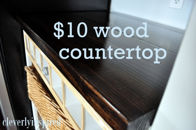 DIY wood countertop - diy kitchen countertop ideas