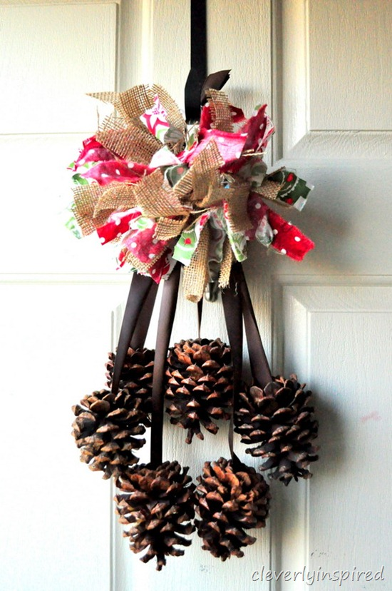 burlap and fabric pom pom @cleverlyinspired (2)
