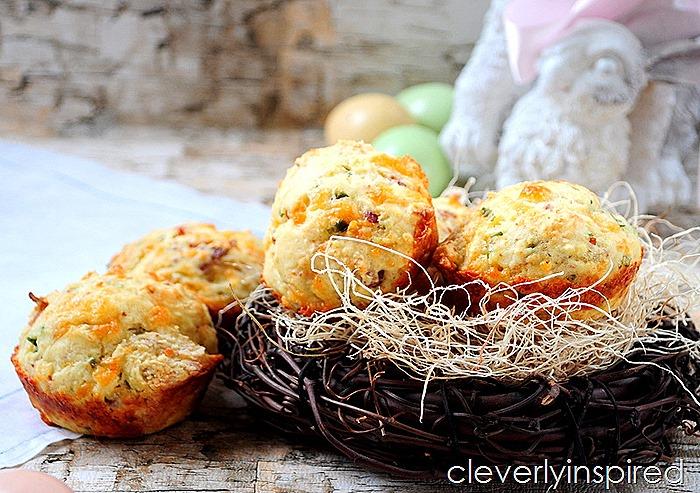 cheesy bacon muffin recipe (9)