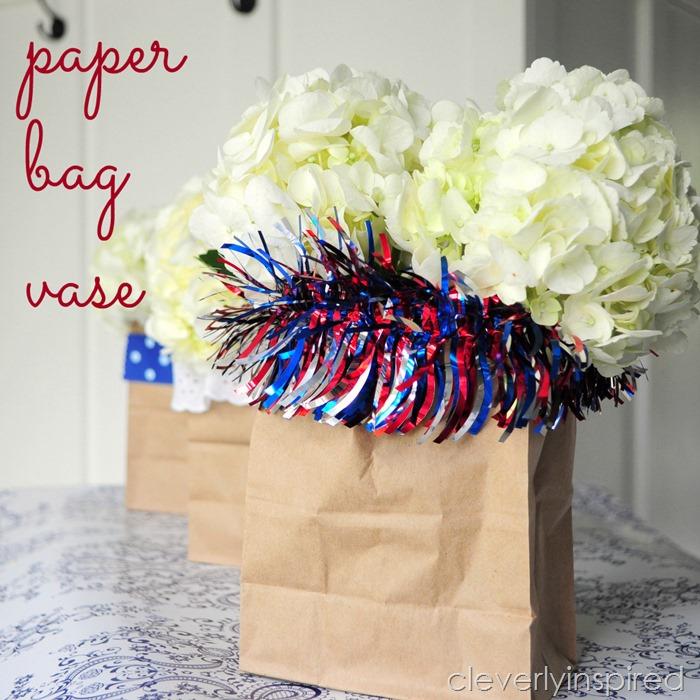paper bag vase @cleverlyinspired #ultimateredwhiteandblue (1)