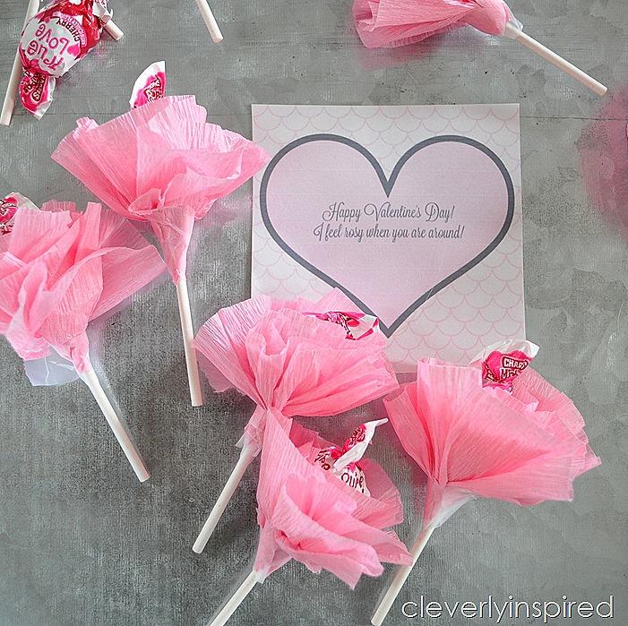 Lollipop Flower Valentine Printable