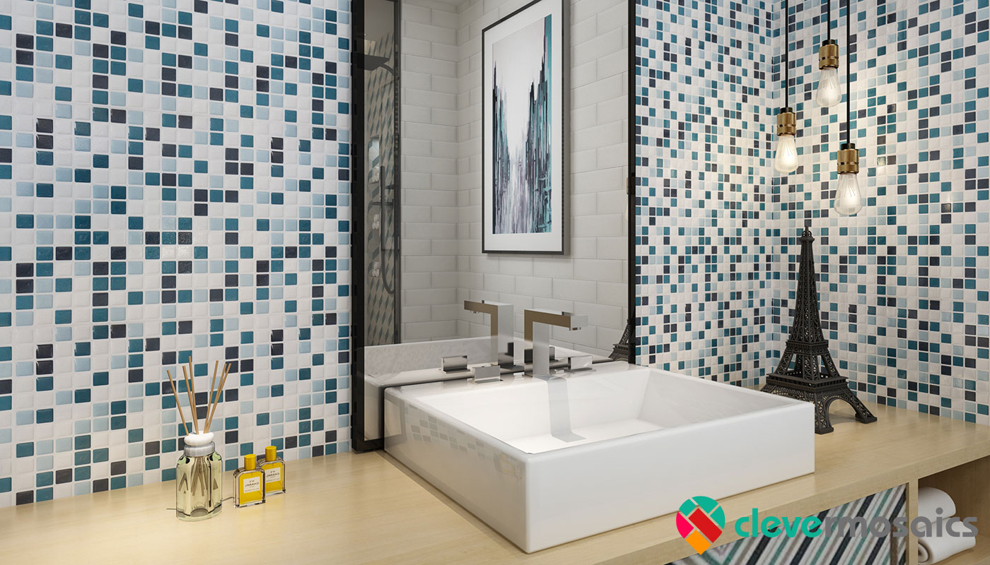 How To Stick Bathroom Wall Panels Peel And Stick Tiles For Shower Walls | Clever Mosaics