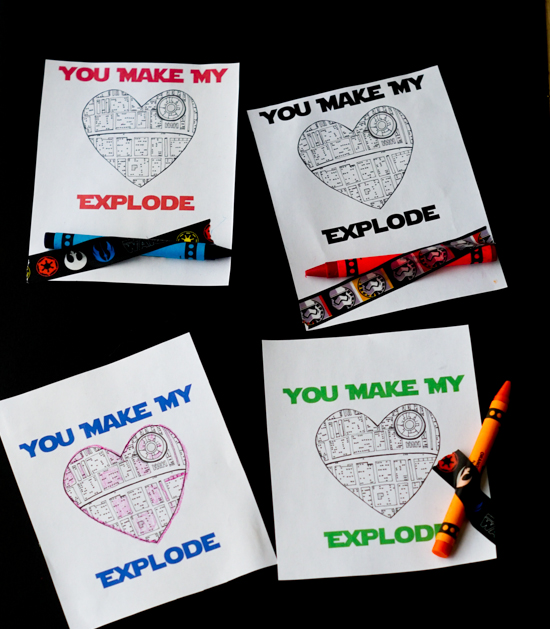 Star Wars Printable Valentines - Clever Pink Pirate