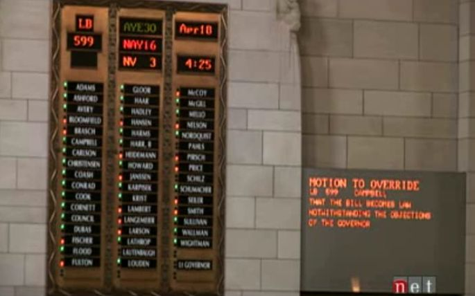 How NE Senators Voted: LB599 (and FUNDING) Veto Overrides