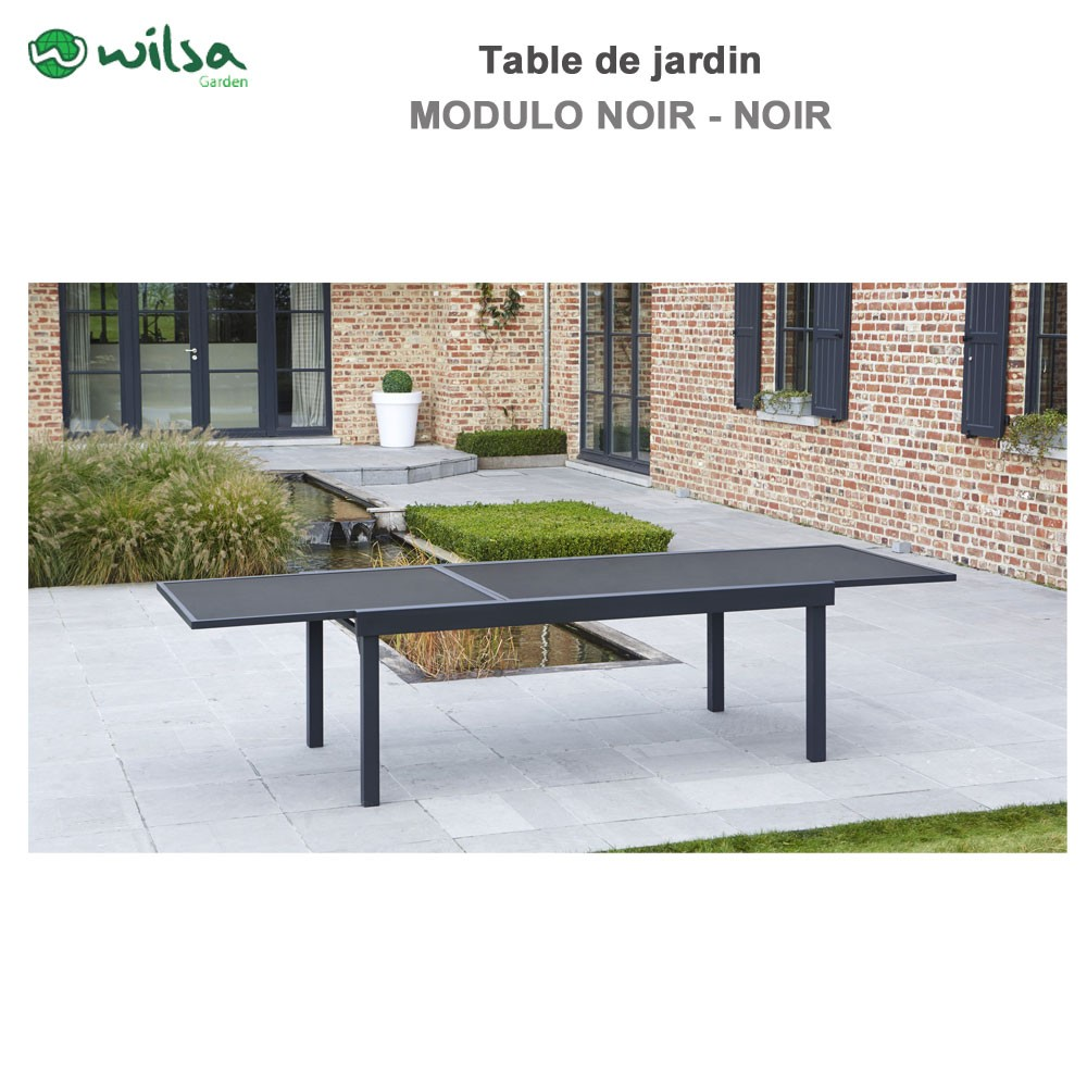 Table Jardin 12 Places Table De Jardin Modulo 8/12 Places Noir602630 Wilsa Garden*
