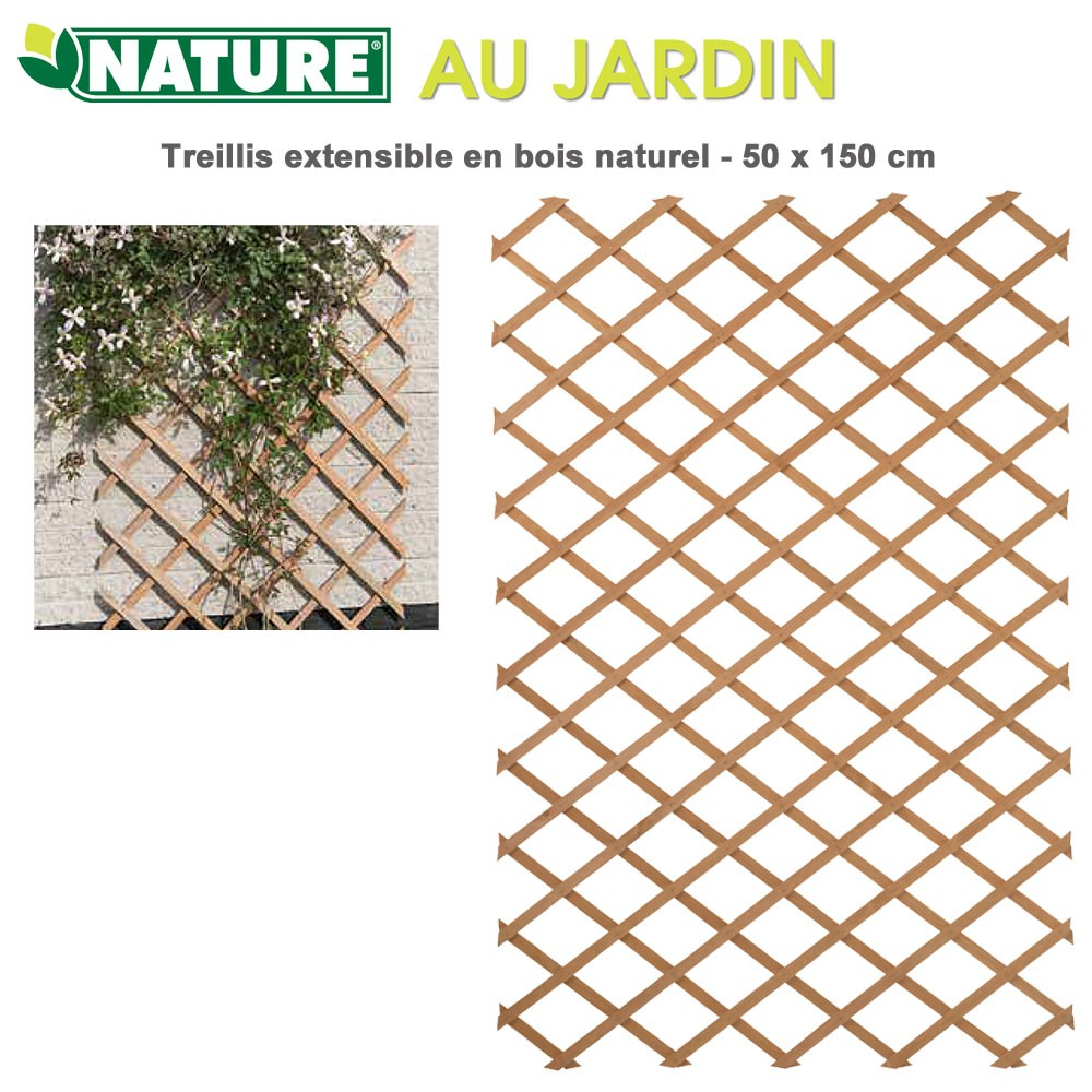 Treillis Decoration Murale Treillis En Bois Naturel Extensibles 50 X 100 Cm