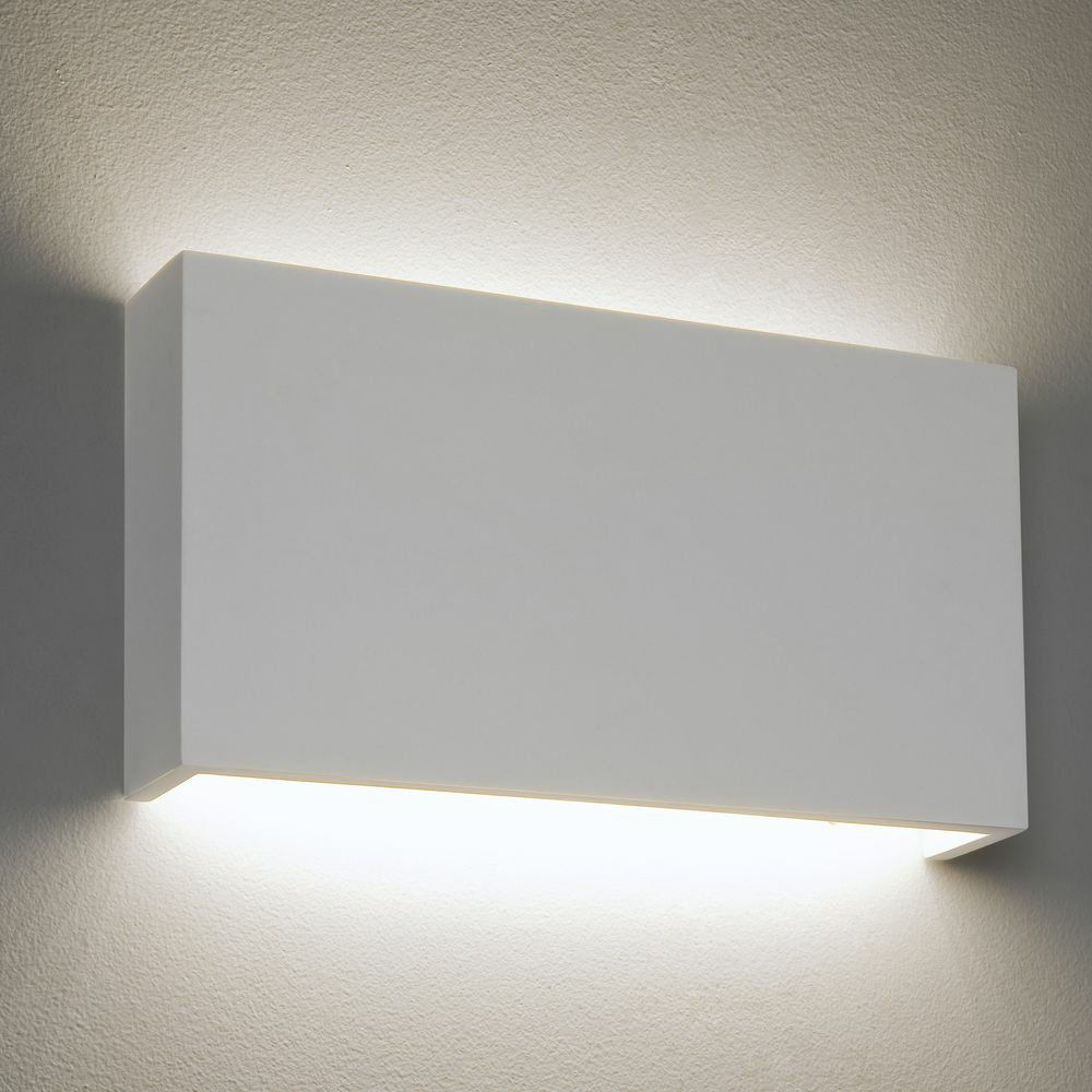 Wandleuchte Led Weiß Dimmbare Led Wandleuchte Rio Aus Gips In Weiß 180 Mm X 325 Mm