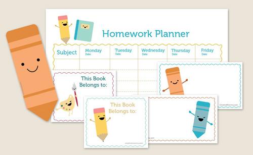 cute weekly homework planner template - Goalgoodwinmetals - cute weekly homework planner template