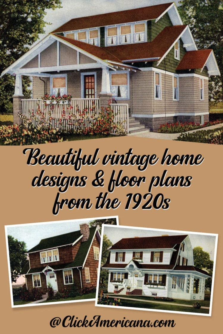 Home Design Floor Plan 62 Beautiful Vintage Home Designs Floor Plans From The 1920s