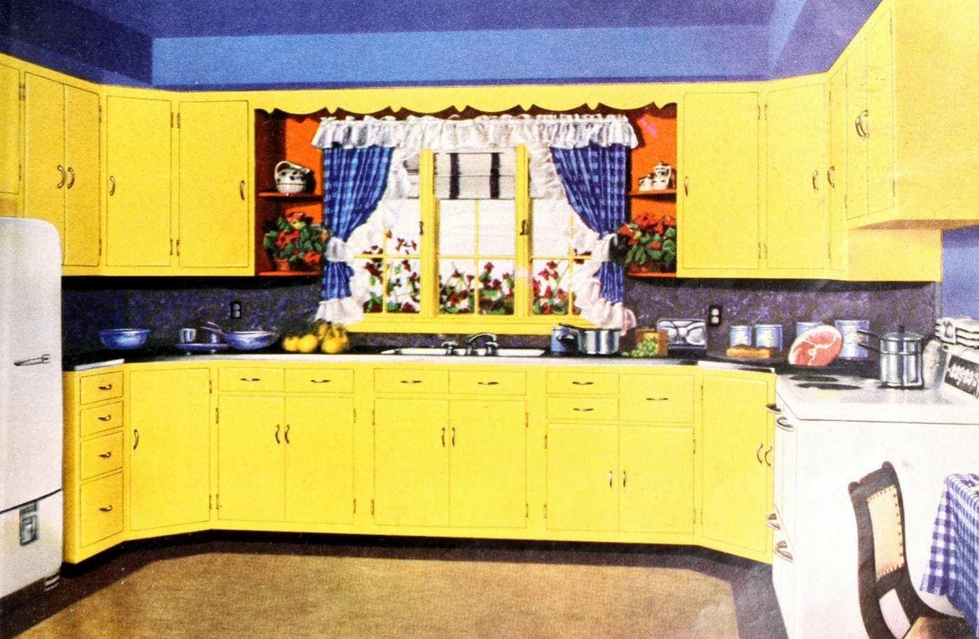 31 Retro Yellow Kitchens From Yesteryear Sunny Midcentury Home Decor Click Americana