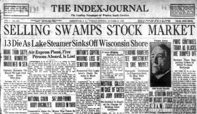 The Great Depression: Newspaper headlines from the stock market crash (1929) - Click Americana