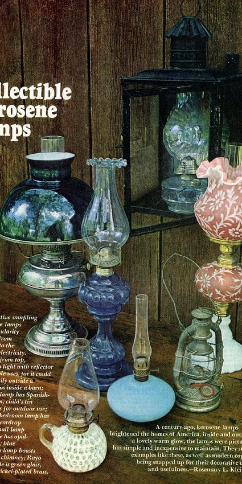 Modern Kerosene Lamp Collectible Antique Kerosene Lamps 1975 Click Americana