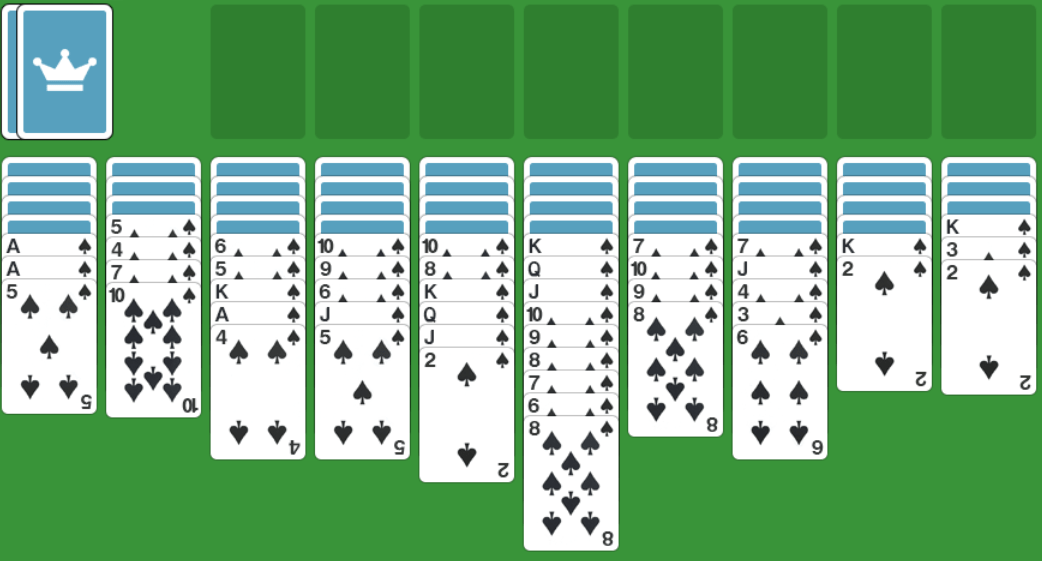 Card Games Spider Solitaire