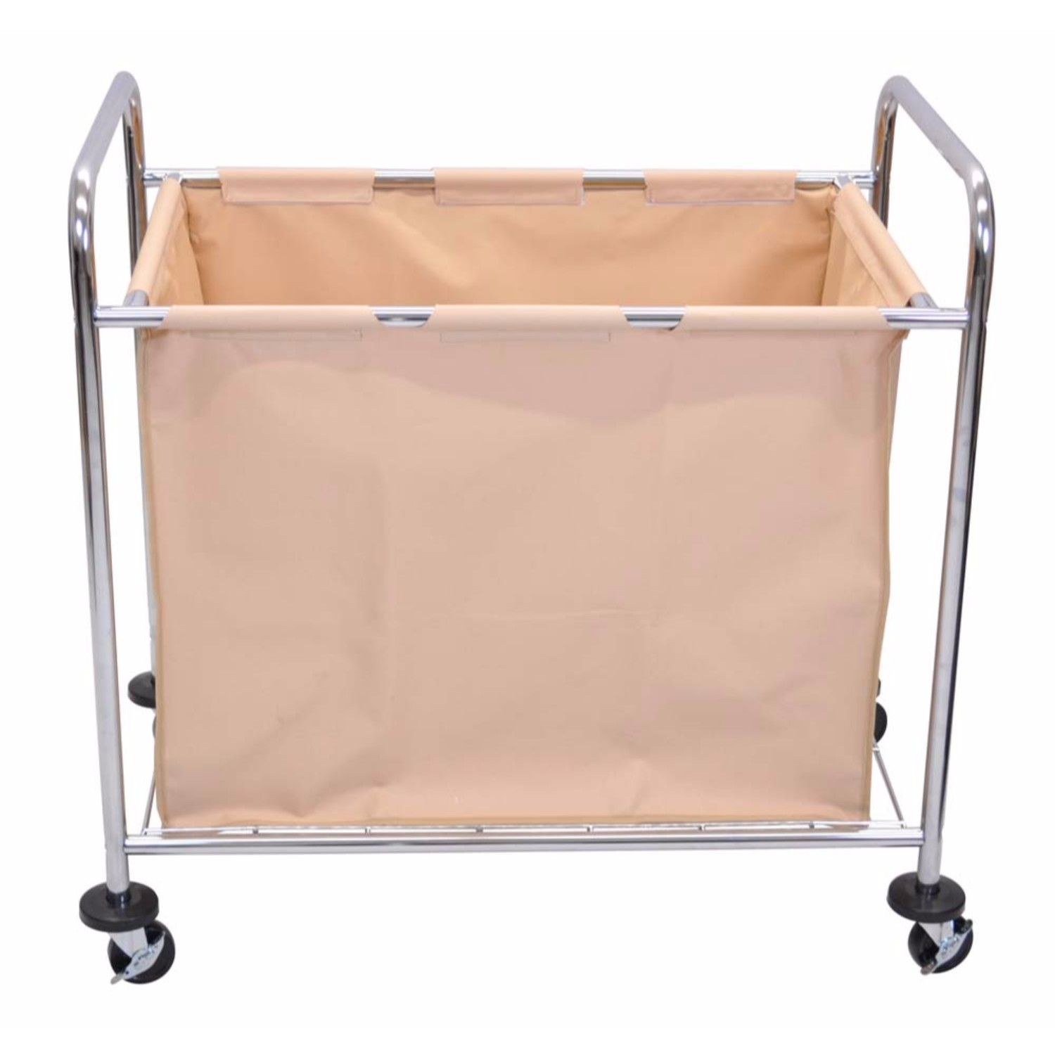 Chrome Laundry Basket Luxor Laundry Cart With Chrome Plated Steel Frame And