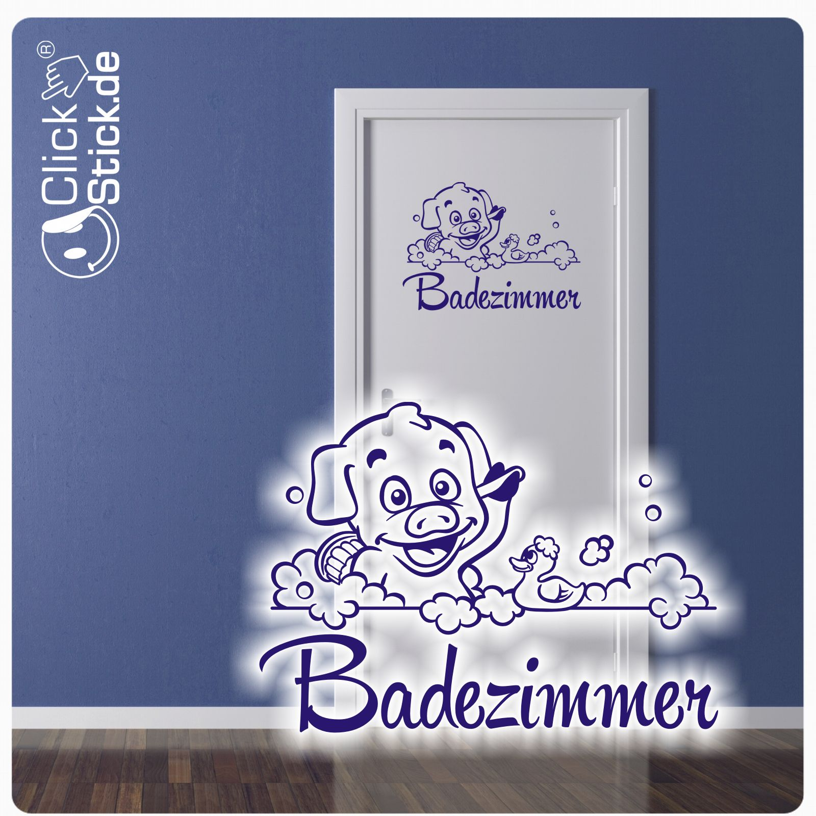 Wandsticker Bad Badezimmer Tattoo