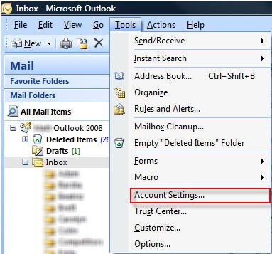 Setting up Microsoft Outlook 2007 - Knowledgebase - HMG Creative