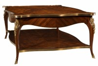 A brass mounted flame mahogany coffee table, Coffee tables ...