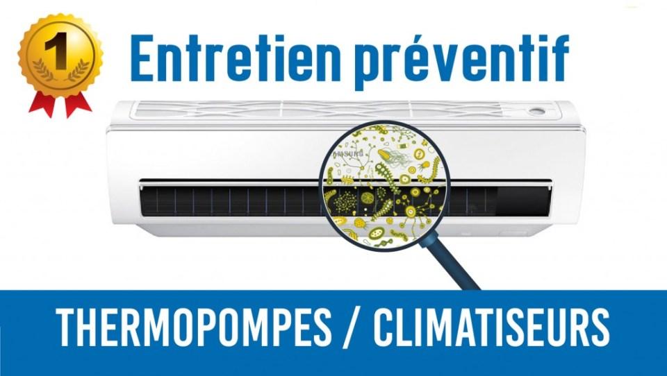 entretien préventif thermopompe climatiseur