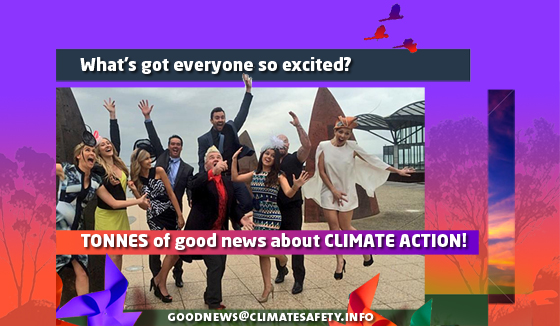 Over 60 pieces of good news about climate action