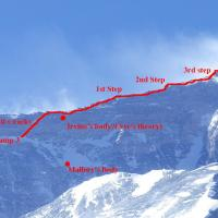 May 11 - Irvine's body and the summit day route