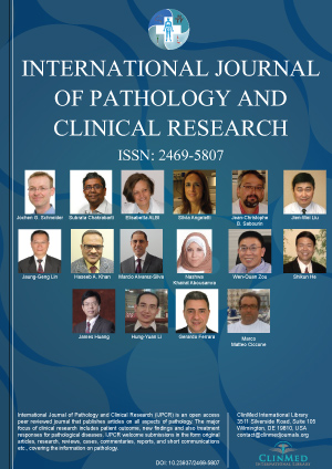 Journal Of Clinical International Journal Of Pathology And Clinical Research Clinmed