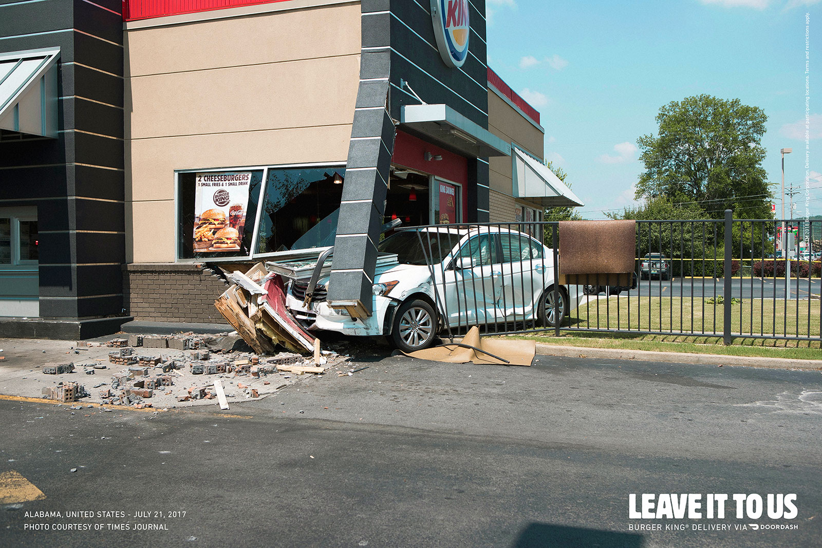 In Home Delivery Burger King Pushes Home Delivery With Photos Of Real Car Crashes