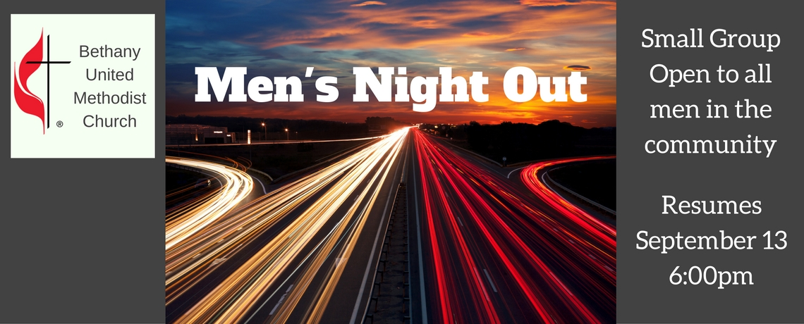Men's Night Out Resumes September 13th