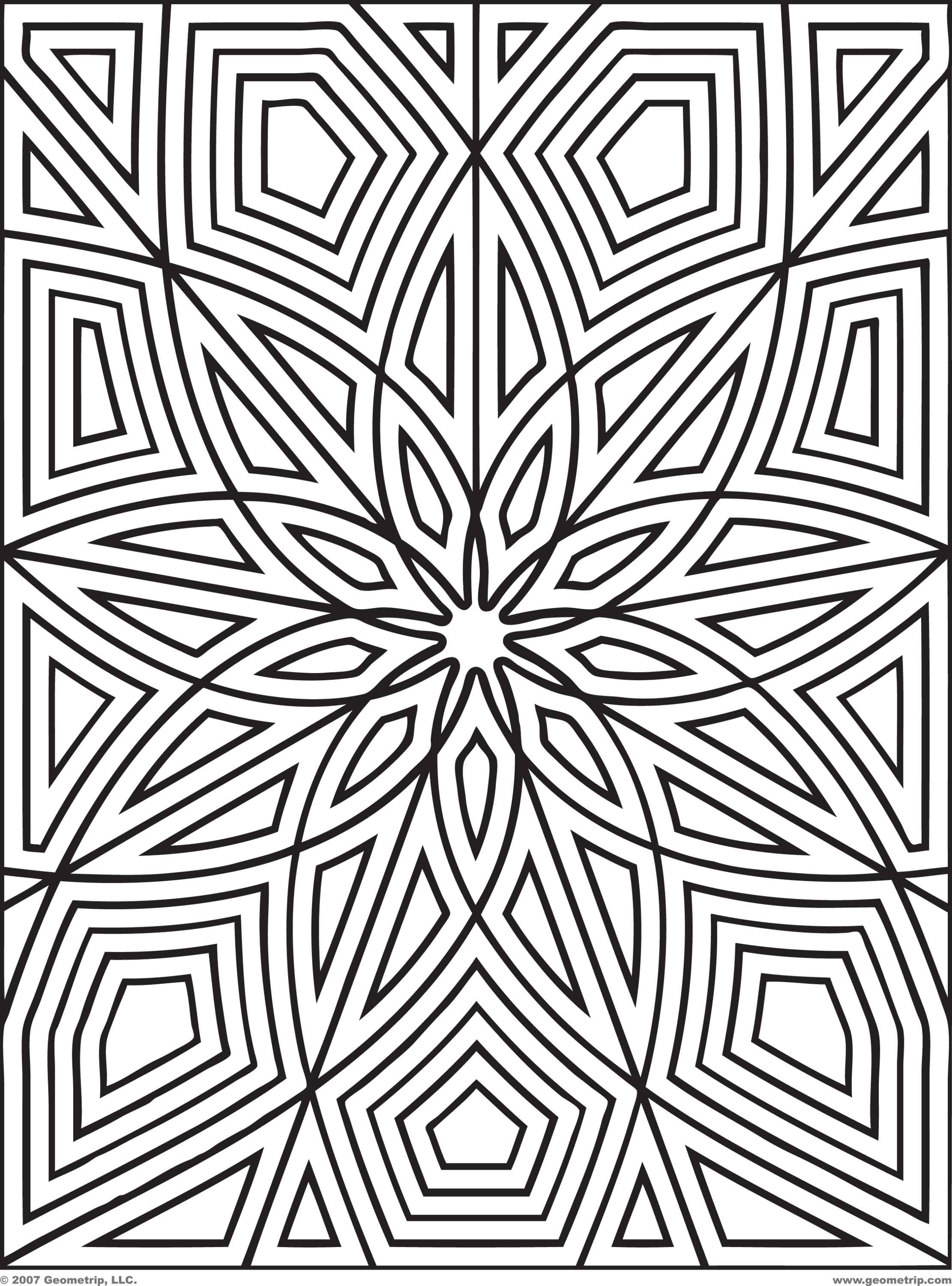Free Free Printable Geometric Design Coloring Pages Download Free Clip Art Free Clip Art On Clipart Library