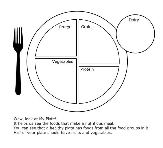 My Plate Worksheet for Health - Clip Art Library