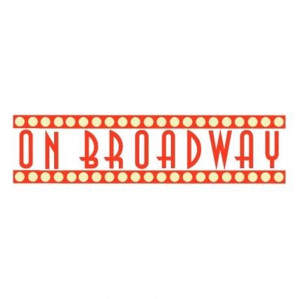 On broadway Free vector in Encapsulated PostScript eps - Clip Art