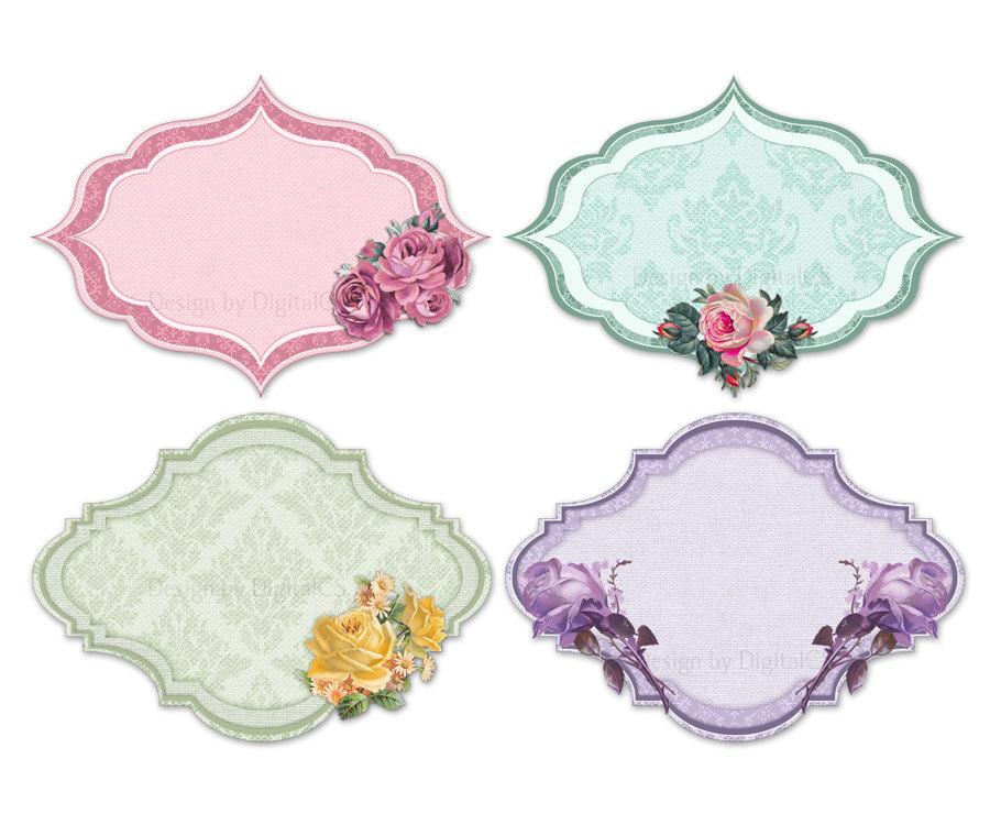 Sanqunetti Design Shabby Chic Flowers Clipart - Clip Art Library