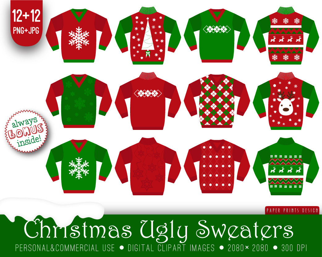 Popular Items For Sweater Clipart