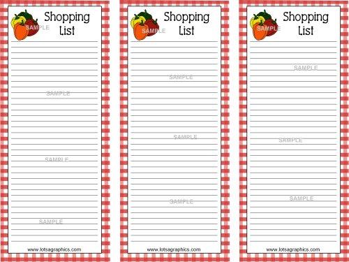 Clip Art Shopping List Clipart - Clip Art Library - shopping lists