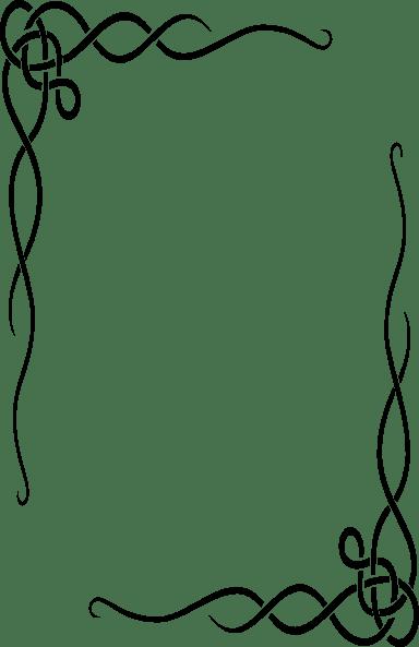 fancy restaurant menu borders