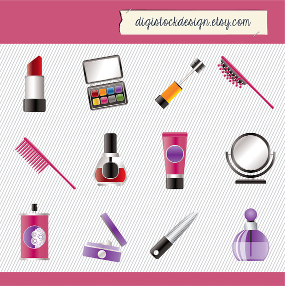Make up Clipart Cosmetics Clipart Digital by digistockdesign
